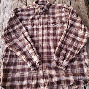 Carhartt Plaid Cotton Button up 2XL